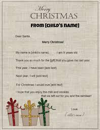 template for santa letter free letter to santa santa letter template