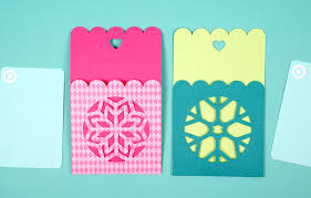 snowflake gift card holder tags happiness is