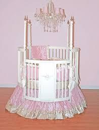 bella round crib bedding set by little bunny blue luxury crib