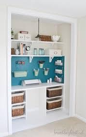 half closet half desk craft closet makeover beneath my heart