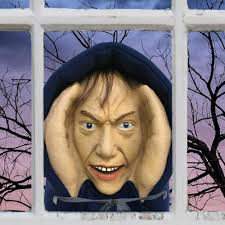 halloween face decals home depot pulls u0027scary creeper peeper u0027 halloween decoration