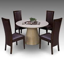 Retro Round Marble Dining Table  Retro Elm Chairs - Round dining room tables for 4