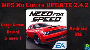 hellcat demon engine nfs no limits new update v2 4 2 dodge challenger demon