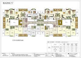 floor plan building 2 3 4 bhk flats pent house in bapat camp kolhapur anantpuram