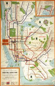 New York Mta Subway Map by Map Of The New York City Subway System 1955 Teacharchives Org