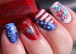finger lickin u0027 good fourth of july nail art www beingmelody com