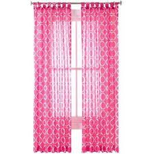 Sheer Pink Curtains Voile Slipper Pink Curtain Panel