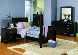 Furniture Kids Bedroom Bedroom Sets Lauran Black Twin Size Bedroom Set Newlotsfurniture
