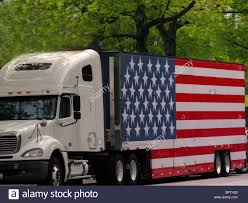 American Flag On Truck Truck With American Flag Stock Photo Royalty Free Image 31273041