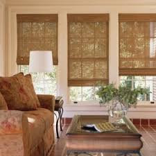 Pier 1 Blinds Decorating Simple Bamboo Curtain Panels With White Glass Door For