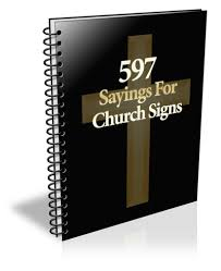 597 sayings for church signs ebook