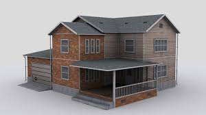 two story house 3d model cgtrader