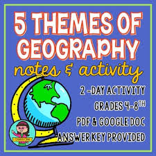 5 themes of geography lesson 5 themes of geography teaching resources teachers pay teachers