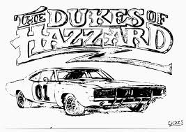 dukes of hazzard car coloring pages eson me