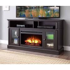 Small Electric Fireplace Contemporary Electric Fireplace Tv Stand Furnitech Ft64cfb 66