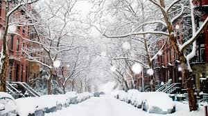 Winter Houses Winter Houses Cars Trees Street Snow Snowfall Winter Hd