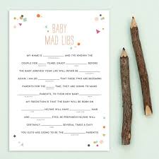 baby mad libs printable mad libs for baby showers by basic invite