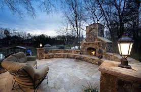 Outdoor Sitting Area Luxury Outdoor Fireplaces Design Ideas With Circle Seating Walls