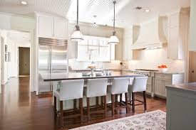 upholstered kitchen bar stools beadboard ceiling transitional kitchen dodson and daughter