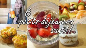 recette saine et facile 6 petits déjeuners santé rapide et facile youtube