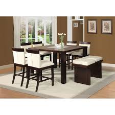 keelin counter height table in espresso 71040 acme acme