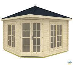 summer c cabins victoria corner 4m x 4m 40mm summer house cabin log cabins 4 less