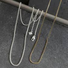 simple long chain necklace images Tutti and co long curb chain necklace simple and stylish jpg