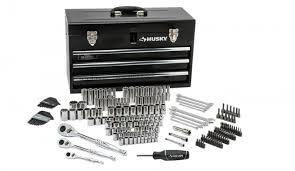 black friday home depot aa batteries 200 pc husky mechanics tool set u0026 metal tool box only 99 00 at