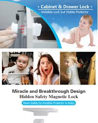 baby safety magnetic locking system 8 lock child safety magnet
