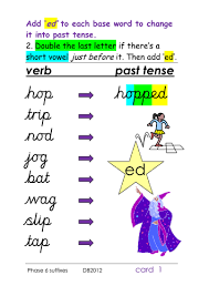 phase 6 past tense u0027 ed u0027 suffix 4 different spelling rules for