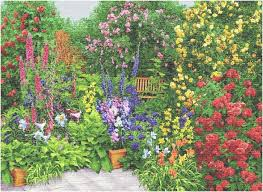 rose garden iii tapestry wall hanging h56