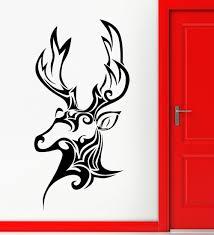 wall sticker vinyl decal deer hunting trophy animal head patterns