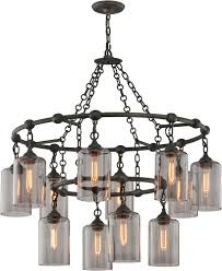 troy f4425 gotham hand worked wrought iron chandelier lamp tro f4425
