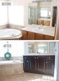Painted Bathroom Cabinets by How To Stain Oak Cabinets The Simple Method No Sanding