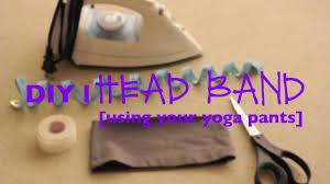 yoga headband tutorial diy l head band using your yoga pants youtube