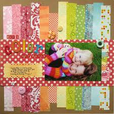 21 best rainbow layouts images on pinterest scrapbooking layouts