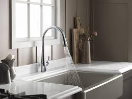 Bisque Kitchen Faucet Kitchen Room Amazing Black Kitchen Faucets At Lowes Black Bridge