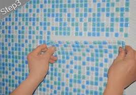 Mosaic Tile Installation Glass Mosaic Tile Stainless Steel Metal Wall Tiles