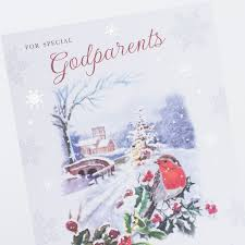 christmas card godparents only 59p