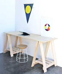 Diy Trestle Desk Desk Trestle Legs Trestle Desk With Shelves Home Trestle Desk