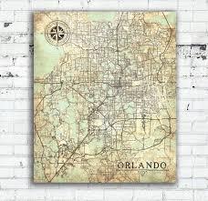 Map Of Orlando Fl by Orlando Fl Canvas Print Orlando Fl City Florida Vintage Map