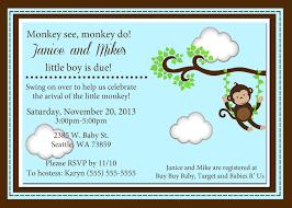 monkey baby shower invitations kustom kreations