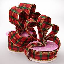 plaid ribbon multi christmas plaid ribbon