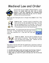 medieval law and order facts worksheet year 7 lower