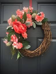 coral colored wreath coral colors wreath door