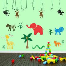large jungle safari wall stickers wall stickers decals jungle safari wall stickers on a playroom wall