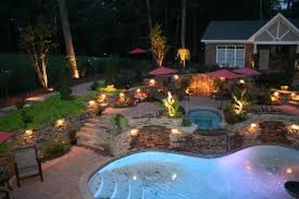 Pool Landscape Lighting Ideas Outdoor Low Voltage Lighting Crafts Home
