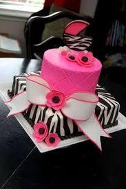 pink polkadots zebra baby shower cake by little sugar bake
