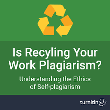 turnitin is recycling your own work plagiarism