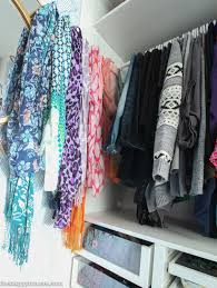 how to organize scarves in your closet home decorating interior